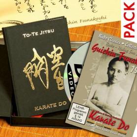 Pack-3 Libro To-Te Jitsu Edicion Lujo Español + DVD Karate 1924 Kata Vintage Footage G. Funakoshi