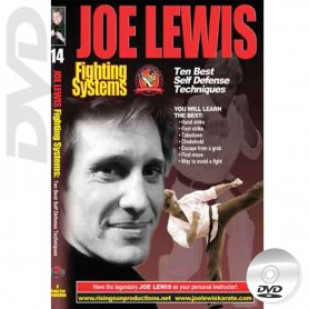 DVD The Ten Best Self Defense Techniques. Kick Boxing. Joe Lewis Fighting Systems Vol.14
