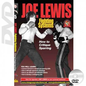 DVD How to Critique Sparring. Kick Boxing. Joe Lewis Fighting Systems Vol.5