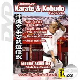 DVD Eisuke Akamine Kobudo Hozon Shinkokai. Okinawa Karate Kobudo Vol.14